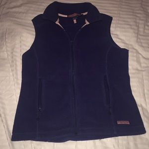 Fleece navy vest